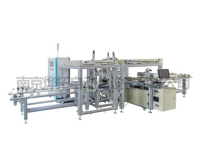 Glass slitting and abnormity cutting production line for automotive rearview mirror